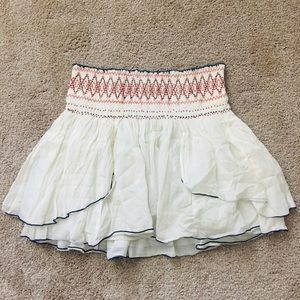 Flowy mini skirt